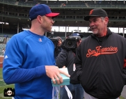 april 13, 2013, sf giants, chicago cubs, wrigley field, photo, bruce bochy