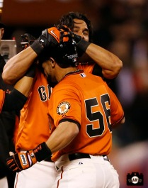 San Francisco Giants, S.F. Giants, photo 2013, Angel Pagan and Andres Torres