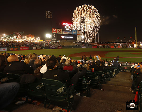 San Francisco Giants, S.F. Giants, photo 2013, Fireworks