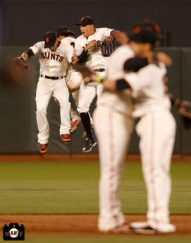 april 20, 2013, sf giants, photo, gregor blanco, hunter pence, angel pagan