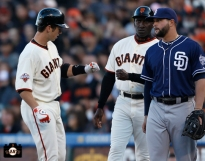 april 20, 2013, sf giants, photo, buster posey, roberto kelly
