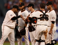 april 20, 2013, sf giants, photo, pablo sandoval, tim lincecum, brandon crawford, buster posey, brandon belt