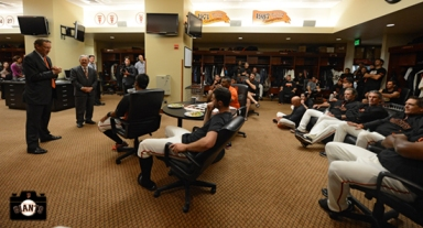 larry baer, april 23, 2013, sf giants, photo, team, mayor ed lee, jacket presentation