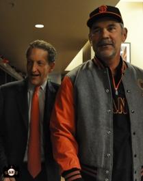 bruce bochy, larry baer, april 23, 2013, sf giants, photo, team, mayor ed lee, jacket presentation