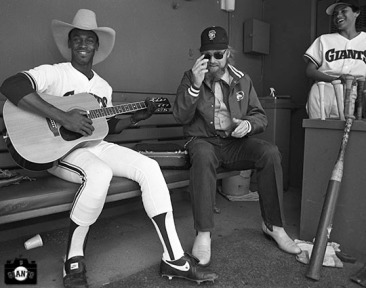 San Francisco Giants, S.F. Giants, photo, 1983, Charlie Daniels, Chili Davis