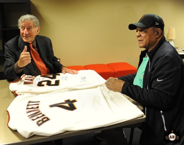 San Francisco Giants, S.F. Giants, photo, Tony Bennett, 2011, Willie Mays