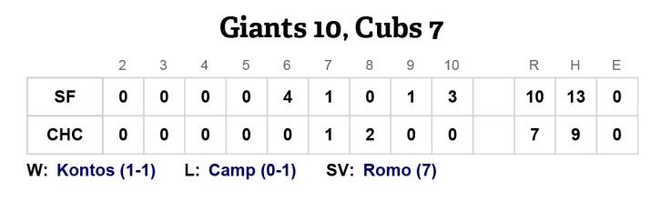 San Francisco Giants at Chicago Cubs - April 14, 2013   MLB.com