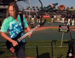 San Francisco Giants, S.F. Giants, photo, 2013, Metallica, Kirk Hammett