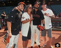 San Francisco Giants, S.F. Giants, photo, 2013, Metallica, Andres Torres, Kirk Hammett, Angel Pagan, James Hetfield