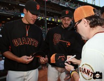 San Francisco Giants, S.F. Giants, photo, 2013, Metallica, Javier Lopez, George Kontos, Lars Ulrich