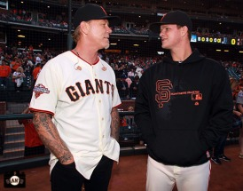 San Francisco Giants, S.F. Giants, photo, 2013, Metallica, James Hetfield, Matt Cain