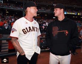 San Francisco Giants, S.F. Giants, photo, 2013, Metallica, James Hetfield, Matt Cain