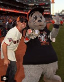 San Francisco Giants, S.F. Giants, photo, 2013, Metallica, Lars Ulrich, Lou Seal
