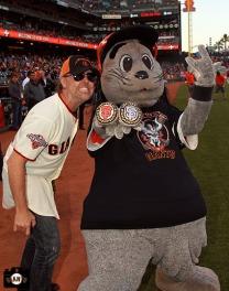 San Francisco Giants, S.F. Giants, photo, 2013, Metallica, Lars Ulrich, Lou Seal