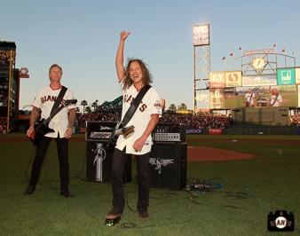 San Francisco Giants, S.F. Giants, photo, 2013, Metallica, James Hetfield, Kirk Hammett