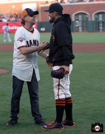 San Francisco Giants, S.F. Giants, photo, 2013, Metallica, Lars Ulrich, Sergio Romo