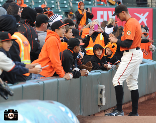 San Francisco Giants, S.F. Giants, photos, 2013, Fans, Hunter Pence