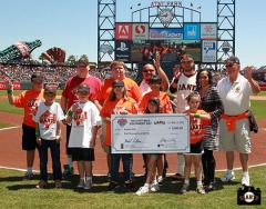 San Francisco Giants, S.F. Giants, photo, 2013, Jr. Giants, Glove Drive, Brandon Crawford