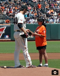 San Francisco Giants, S.F. Giants, photo, 2013, Jr. Giants, Glove Drive, Madison Bumganer