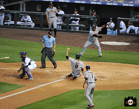 sf giants, may 16, 2013, photo, colorado rockies, brandon belt, tim flannery, pablo sandoval
