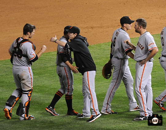 sf giants, may 16, 2013, photo, colorado rockies, team, tim lincecum, sergio romo, brett pill, hunter pence, buster posey
