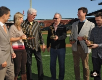 sf giants, photo, 2013 Emmy Awards, amy g, mike krukow, jim lynch, dave flemming, dan peterson