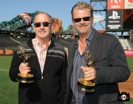 sf giants, photo, 2013 Emmy Awards, jim lynch, jeff kuiper