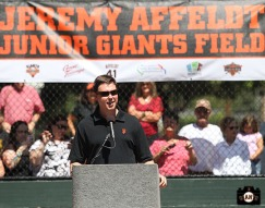 San Francisco Giants, S.F. Giants, photo, 2013, Junior Giants, Jeremy Affeldt, Dave Flemming