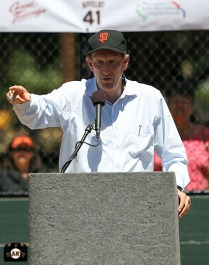 San Francisco Giants, S.F. Giants, photo, 2013, Junior Giants, Jeremy Affeldt, Larry Baer
