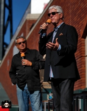 duane kuiper, mike krukow, june 22, 2013, sf giants, photo, season ticket member appreciation day, fans,