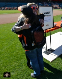 Cindy hernandez, june 22, 2013, sf giants, photo, season ticket member appreciation day, fans,