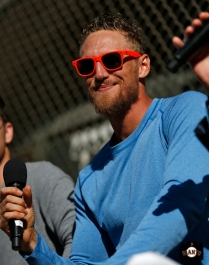 hunter pence, june 22, 2013, sf giants, photo, season ticket member appreciation day, fans,