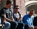 matt cain, buster posey, hunter pence, june 22, 2013, sf giants, photo, season ticket member appreciation day, fans,