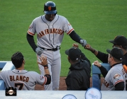 june 24, 2013, sf giants, photo, gregor blanco, bambam meulens, joe lefebvre,