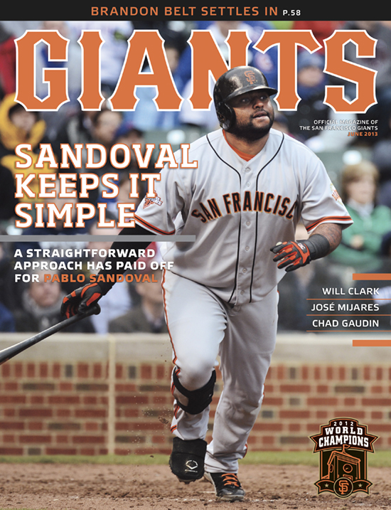 pablo sandoval, giants magazine, 3, 2013, june,