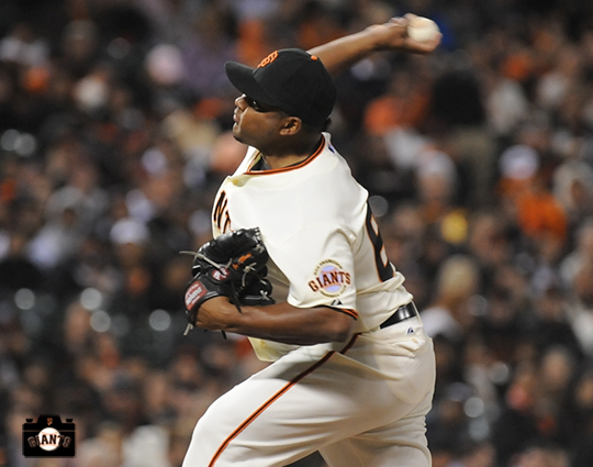 JEAN MACHI... This is Machi's second appearance with the Giants this season as he was recalled from April 17-May 7...is 1-0 with a 2.33 ERA (5er, 19.1ip) in 18 games this year.