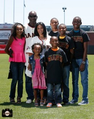 San Francisco Giants, S.F. Giants, photo, 2013, Family Day, Roberto Kelly