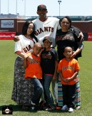 San Francisco Giants, S.F. Giants, photo, 2013, Family Day, Joaquin Arias