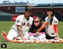San Francisco Giants, S.F. Giants, photo, 2013, Family Day, Hector Sanchez