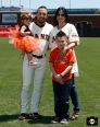 San Francisco Giants, S.F. Giants, photo, 2013, Family Day, Andres Torres