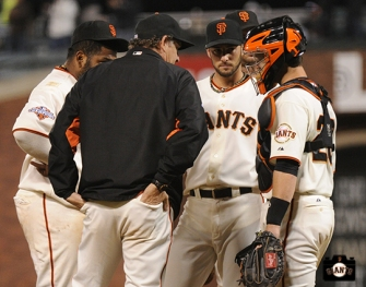 july 8, 2013, sf giants, photo, 16 inning game, pablo sandoval, dave righetti, george kontos, buster posey