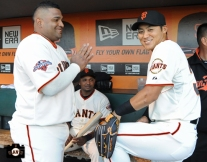 july 9, 2013, sf giants, photo, kensuke tanaka major league debut, at&t park, pablo sandoval,