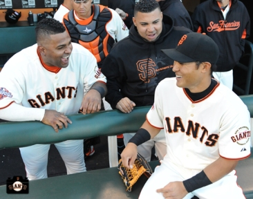 july 9, 2013, sf giants, photo, kensuke tanaka major league debut, at&t park, pablo sandoval, jose mijares