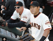 july 9, 2013, sf giants, photo, kensuke tanaka major league debut, at&t park, hunter pence