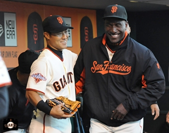 july 9, 2013, sf giants, photo, kensuke tanaka major league debut, at&t park, roberto kelly