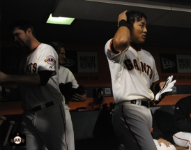 july 9, 2013, sf giants, photo, kensuke tanaka major league debut, at&t park, brandon belt