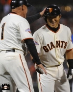 july 9, 2013, sf giants, photo, kensuke tanaka major league debut, at&t park, tim flannery