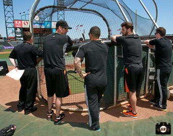 San Francisco Giants, S.F. Giants, photo, 2013, All Blacks, Ryan Vogelsong, Aaron Smith, George Kontos and Sam Cane