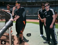 San Francisco Giants, S.F. Giants, photo, 2013, All Blacks, George Kontos, Ryan Vogelsong, Victor Vito and Sam Cane