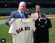 San Francisco Giants, S.F. Giants, photo, 2013, All Blacks, Air New Zealand, Christopher Luxon, Mario Alioto